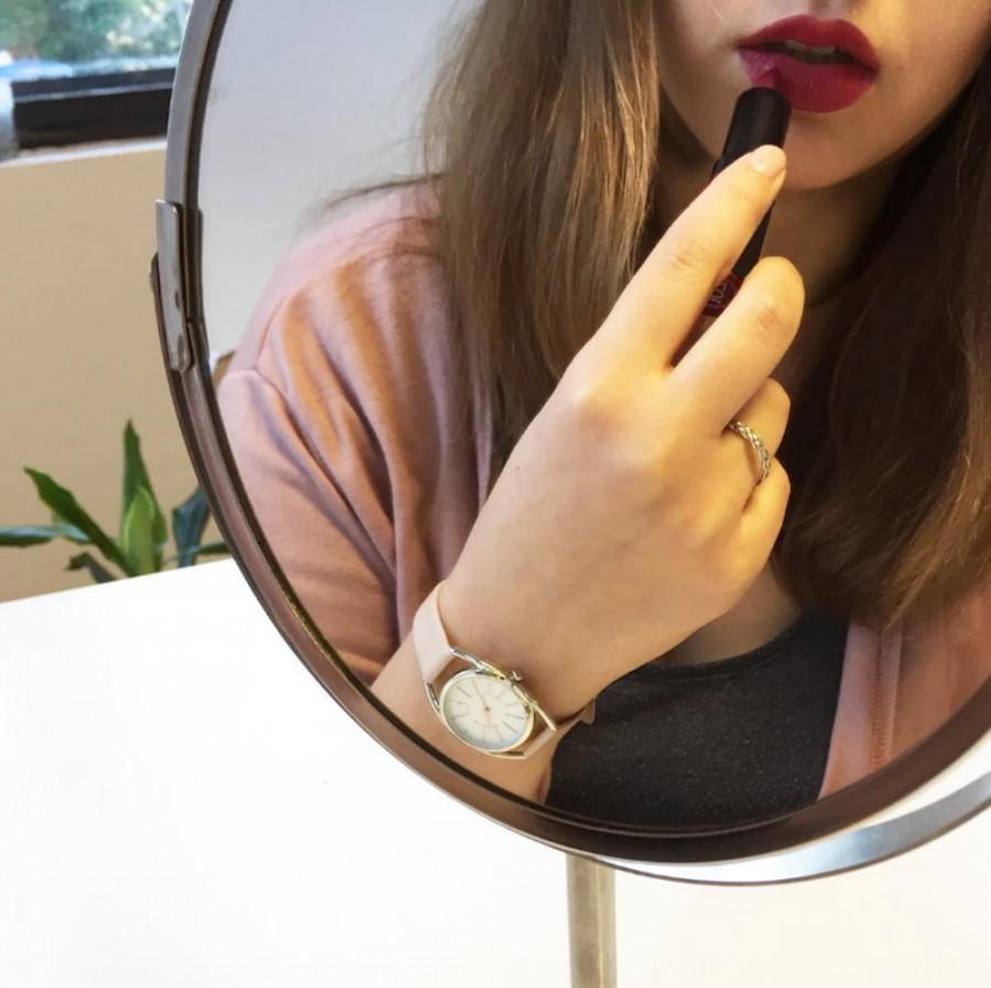 ac413be005a Ružové dámske hodinky Icon Nude Pink - MINET MWL5020