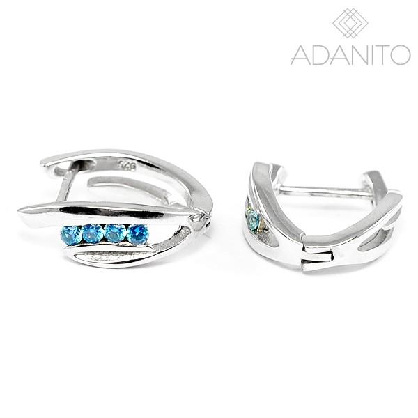 ab2169567 Strieborné náušnice s modrými kameňmi - BENETO AGUC320