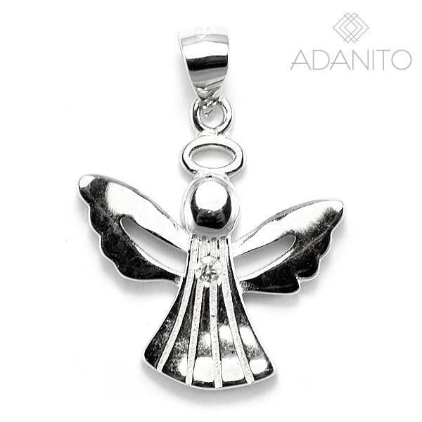 Strieborný prívesok anjel a kameňom - ADANITO SSP009425 6b5bb23a4e8