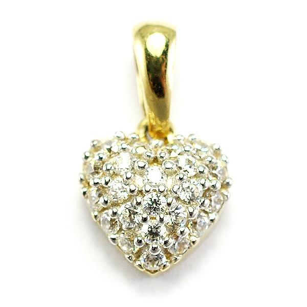 Zlatý prívesok srdiečko so zirkónmi - BR P0115G b867eafe6a3