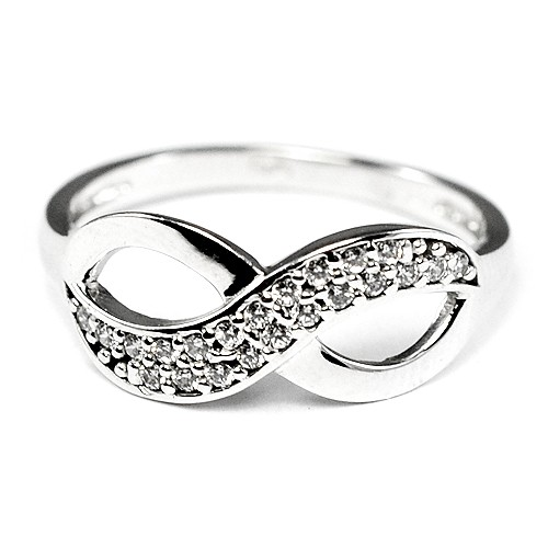 d43e35eb5 Zlatý prsteň nekonečno z bieleho zlata - BR R0001S