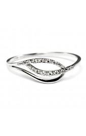 841a749ab Zlatý prsteň z bieleho zlata so zirkónmi