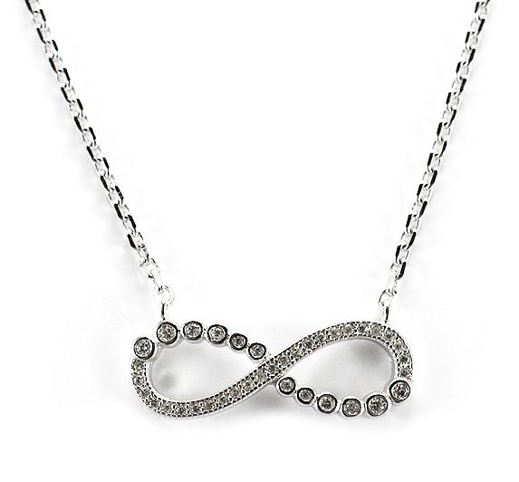 52263e45a Strieborný náhrdelník nekonečno - MEUCCI SN035
