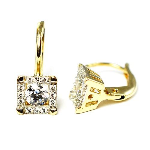 5600c6f69 ... Zlaté náušnice s kameňom. N0030G N0030G