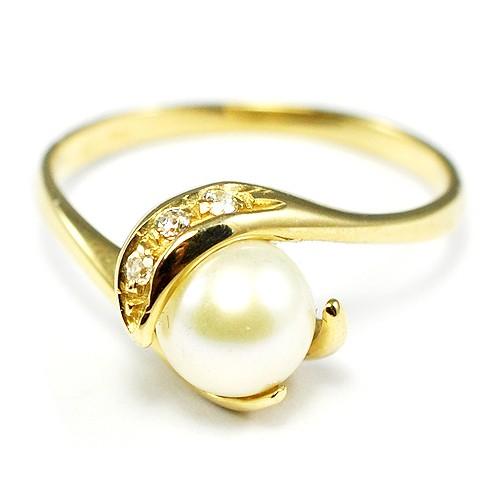 f30f1cc1e Zlatý prsteň s perlou - BR R0004G